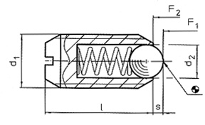spring plungers with ball and slot diagram