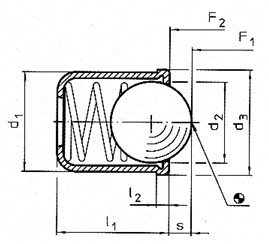 smooth spring plunger with collar diagram
